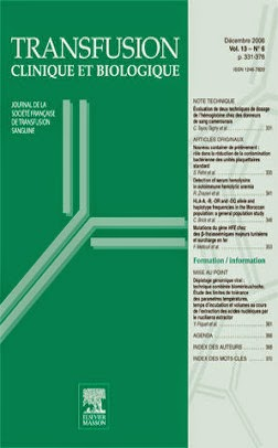 couverture de la publication : Iron-deficiency among blood donors: Donors' opinion on iron supplementation strategy