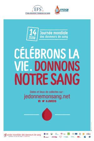 Affiche de la journée mondiale des donneurs de sang 2016