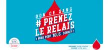 Logo de la campagne de don du sang : Prenez le relais