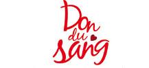 Logo pour le don de sang repr�santant une groutte avec groupage, poche et tubes