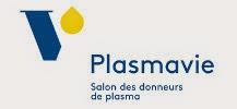 Logo de plasmavie, �tablissement de dons de plasma d'H�ma-Qu�bec