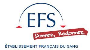 logo de l'Etablissement Français du Sang avec le slogan donnez, redonnez