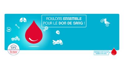 promotion du don de sang par les motards