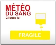 stock de sang fragile