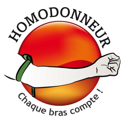 logo de homodonneur, pour le don du sang des homosexuels hommes