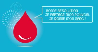 Résolution de l'année, réaliser des dons de sang