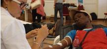 photo d'un pr�l�vement d'un don de sang