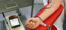 photo d'un pr�l�vement du don de sang
